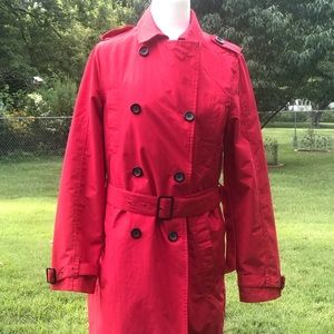 Scottevest Red belted trench coat size M